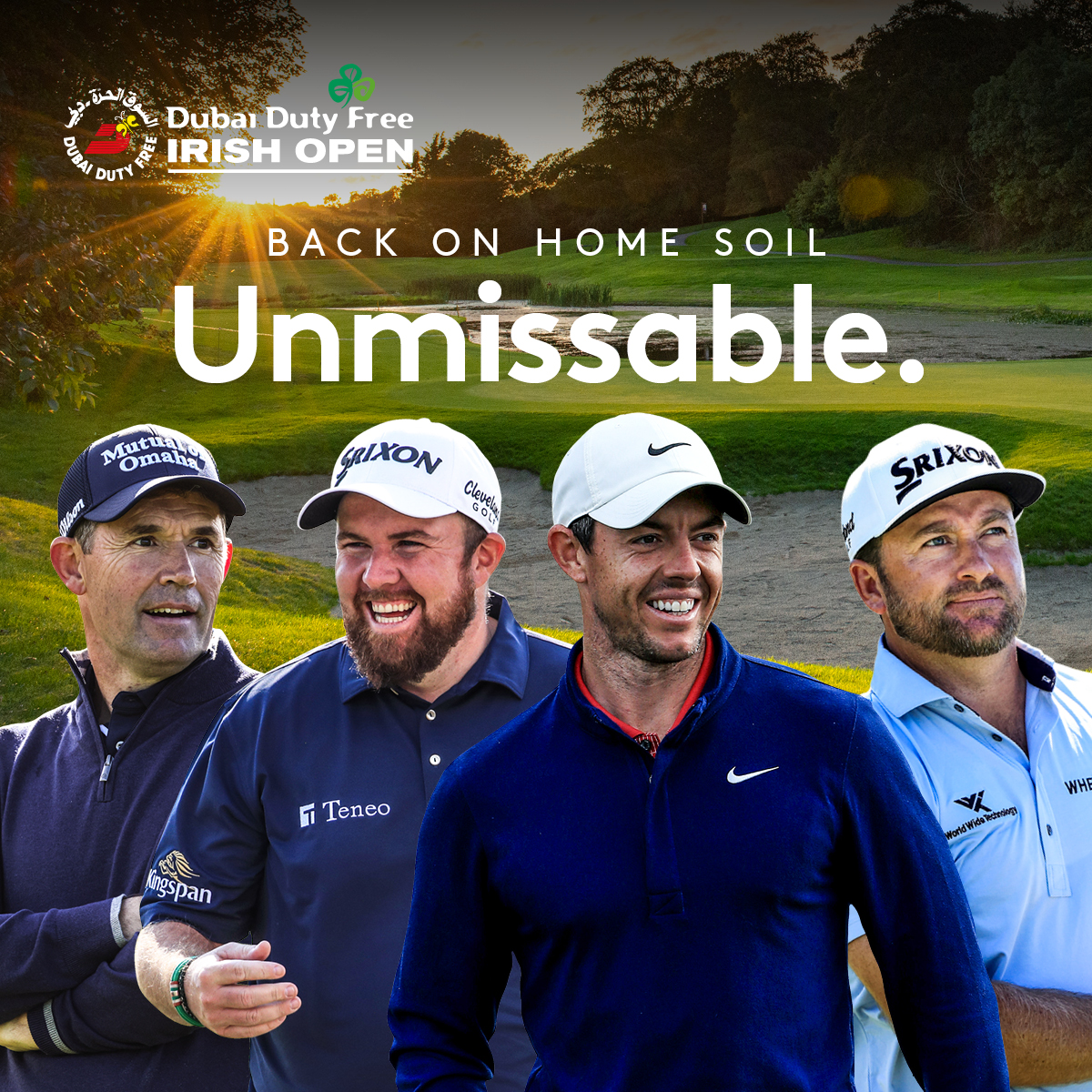Ready for a homecoming!👀☘️  @McIlroyRory @ShaneLowryGolf @padraig_h @Graeme_McDowell   🎟Tickets go on sale June 10th and you can register your interest now!👉https://t.co/t8i58KczdK  #DDFIO https://t.co/dgcBDIFbgd