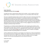It's #SeniorsWeek and it's the time of year to celebrate the seniors in British Columbia who enrich our lives every day.  Statement from Lee Coonfer, BCSLA CEO: