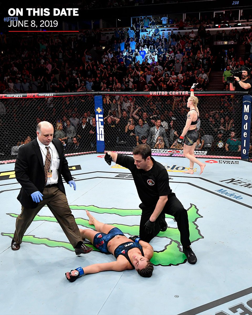 Two years ago today, @BulletValentina landed the coldest KO of her UFC career 🥶 https://t.co/uhTmqOUjeD