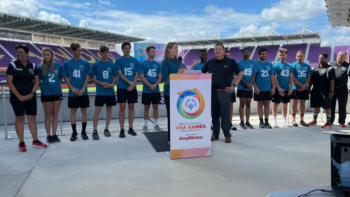 In one year, over 5,500 athletes and coaches from across the US & Caribbean will unite & #ShineAsOne during the #2022USAGames in Orlando. By celebrating @specialolympics athletes, we become champions for a more inclusive world. @2022USAGames #ChooseOrlandoHealth https://t.co/m7Tre3iPxC