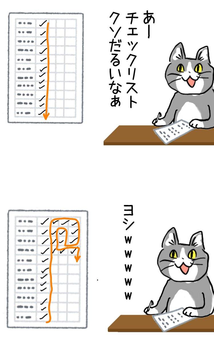 チェックリスト縦横無尽猫 #現場猫