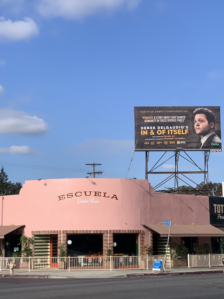 If a billboard above a pink taqueria doesn't get you to watch it, nothing will. https://t.co/Ds602X4Gqy