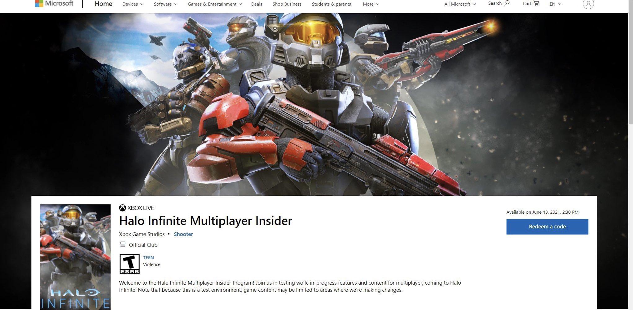 Multijugador de Halo infinite tendría una beta disponible