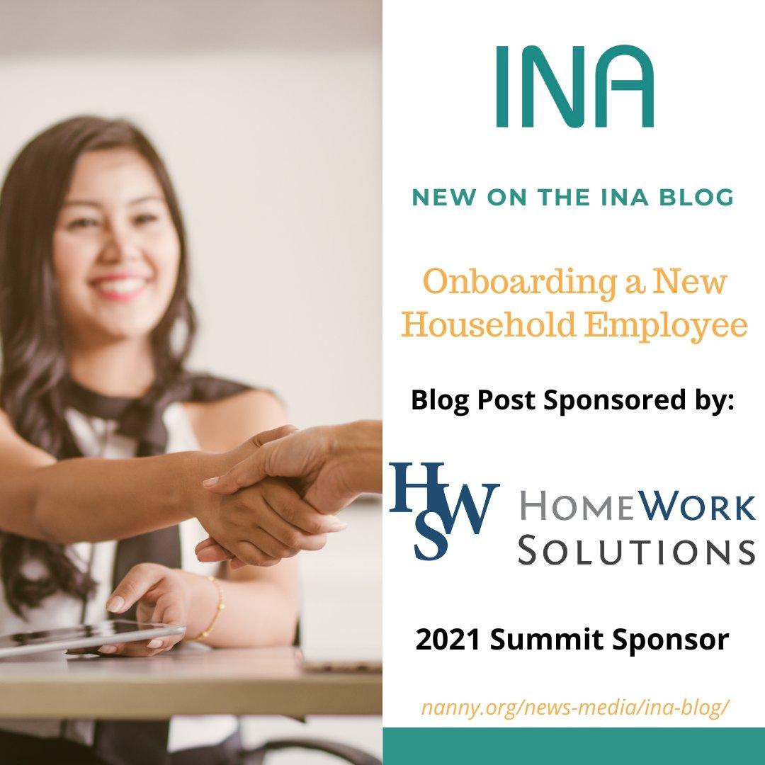 📣 New Blog Post! ⠀ Onboarding a New Household Employee Sponsored by HomeWork Solutions Learn more on the blog!  https://t.co/1xLigmofJv https://t.co/agrUMvZTkt