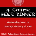 Image for the Tweet beginning: ?Beer dinner at Hearth?