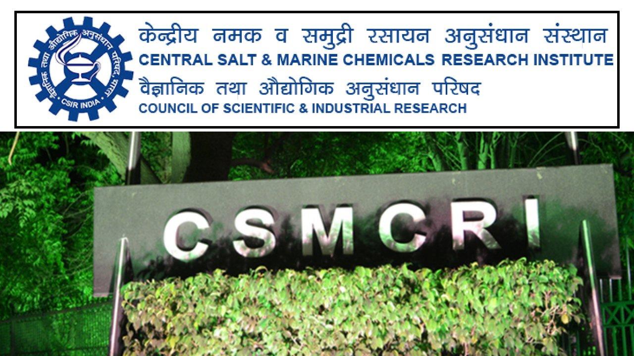 Research Associate Position at CSIR-CSMCRI, Bhavnagar, Gujarat, India