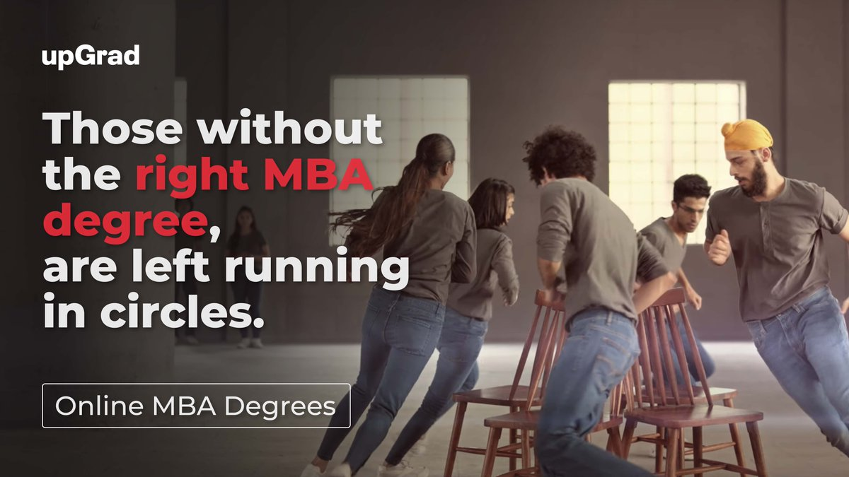 When there are too many MBAs, getting your dream job is tough and life becomes a game of musical chairs.   When it's about your future, stop running around in circles. Choose upGrad and get a #KaamKaMBA.   #KaamKiDegree https://t.co/vxD7DQm7wx