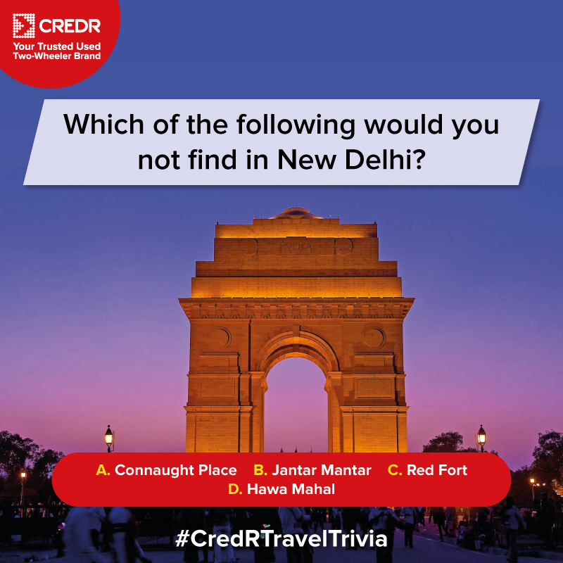 Here's the sixth question of the #CredRTravelTrivia Contest!  Do read the T&C* before participating - https://t.co/Z9B10dAtyZ  #CredR #ContestAlert #ContestIndia #ContestTime #ContestAlertIndia #TravelContest #TravelIndia https://t.co/v43vgngRw8