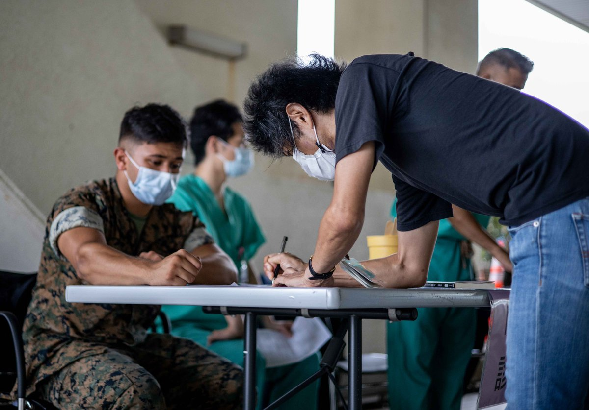 Master Labor Contractors aboard Camp Butler receive their COVID-19 vaccines at U.S. Naval Hospital Okinawa, June 16. Vaccinating local employees will help prevent the spread of COVID-19 in Japan. https://t.co/3S8uV97rng