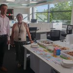 A happy morning at Torsion HQ! Our CEO, Dan and Site Administrator, Kerry got a photo together in front of all the wonderful baked goods Kerry brought in to start raising money for @alzheimerssoc early!#humpdaytreat #alzheimersfundraising #TeamTorsion