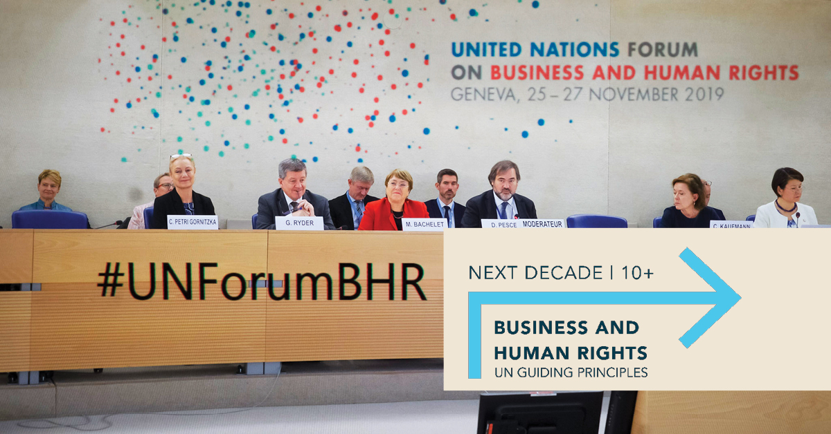 The UN Guiding Principles on #bizhumanrights turn 10 this week 🇺🇳 Read @WGBizHRs new stocktaking report on a decade of #UNGP progress here➡️https://t.co/HdCdckj7vs  Up next: @WGBizHRs to launch a roadmap for the #nextdecadeBHR in the second half of 2021 #UNGPs10plus