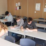 Image for the Tweet beginning: Year 11s working hard in