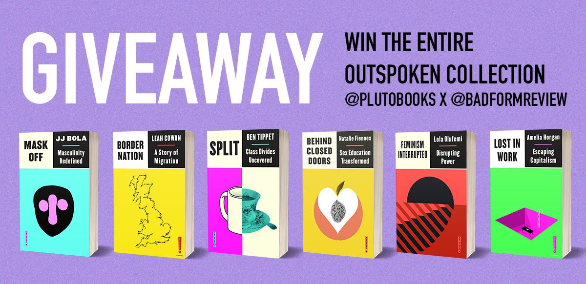 🚨GIVEAWAY🚨  We've teamed up with the lovely people @PlutoPress to give one lucky person ALL SIX BOOKS in the fantastic Outspoken series!  To enter: follow us, like the post, and retweet! By 20.6.21. UK only, 16+ https://t.co/O6jIoU28oq