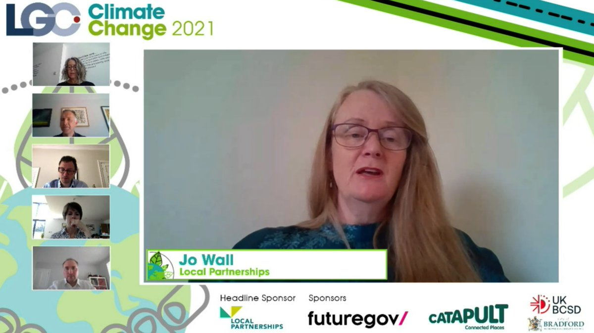 """""""Effective change management starts with clear call to action  #localgov responded to global calls for change with unprecedented number declaring a climate emergency: borne from local passion and a clear narrative, setting agenda for change""""  Jo Wall at #LGCClimateChange"""