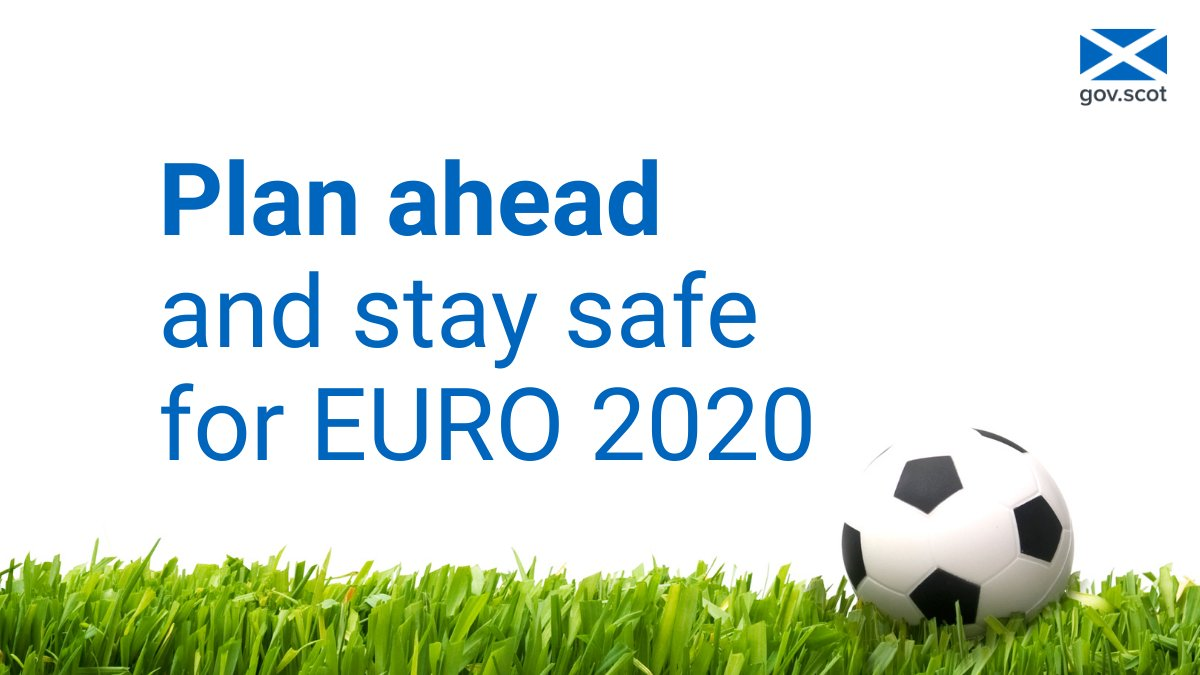 Plan ahead and stay safe for #EURO2020.  Only travel to London for #ENGSCO on 18 June if:  ⚽ You have a ticket, or  ⚽ You have a safe place to watch the match   Remember, we all have a part to play in keeping coronavirus under control. https://t.co/avR0mffSLv