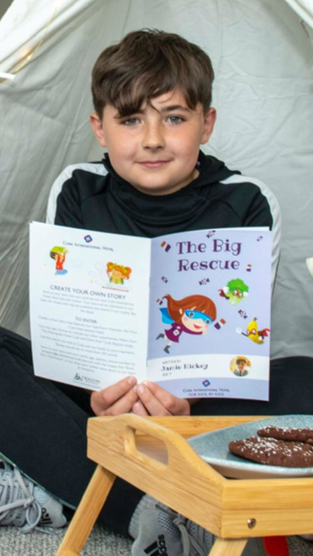 @No1CorkHotel has launched a search for Ireland's next budding children's author.The first book in the initiative The Big Rescue has just landed. It was written by 9 year old Jamie Hickey from Co Cork & all children who check in to the hotel will get a copy.  @TrigonHotels https://t.co/TYZ2PvGXfG