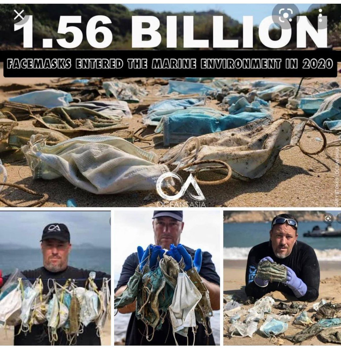 Mask wearing has become a masquerade of virtue but paradoxically causes collateral damages. Disposable plastic masks have created an environmental disaster. 1.56 billion face masks entered the oceans in 2020 and wildlife are being entangled by masks.  #Maskquarade https://t.co/ybGlTsUYmL