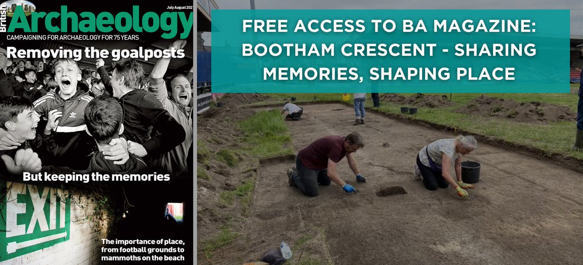 🚨 We have created a FREE access link to our BA Magazine article: Bootham Crescent - Sharing Memories, Shaping Places. 🚨   👉 https://t.co/aCT0GFdkFl (Thread 1/5) https://t.co/dHp6V1PCkU