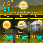 Image for the Tweet beginning: Pleasant weather conditions right through