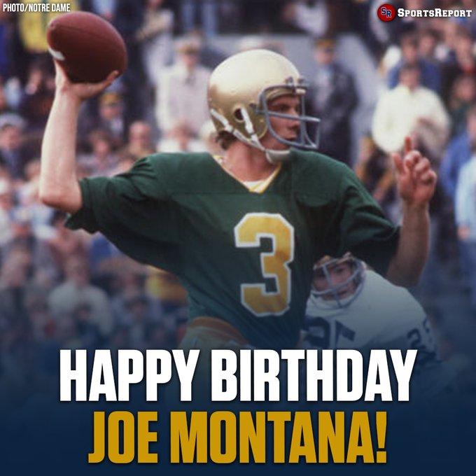 Fans, let\s wish Legend Joe Montana a Happy Birthday!
