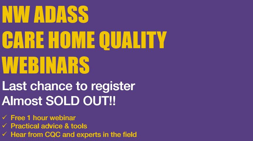 test Twitter Media - Tickets for the NW ADASS Care Home Webinars are going fast! If you are a care home manager or staff member, register now! #freewebinars #nwadass #sellout https://t.co/lMlJ4Iravq