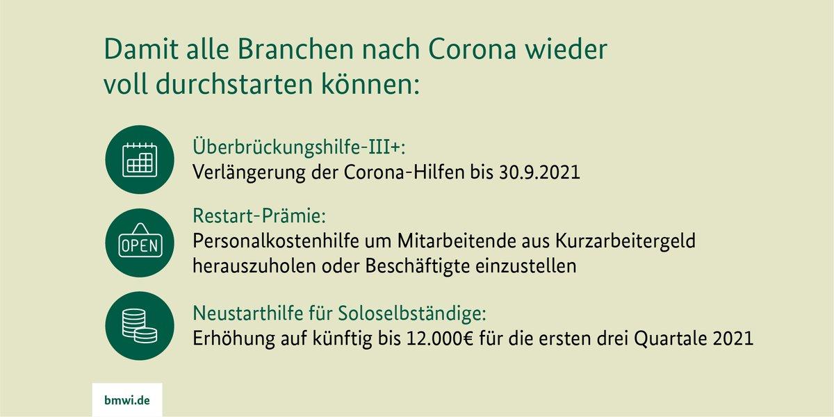 RT @BMWi_Bund: Die #Bundesregierung hat sich auf Vorschlag von @peteraltmaier darauf verständigt, die #Coronahilfen für #Unternehmen zu ver…