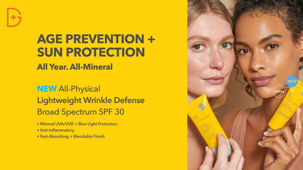 Dr Dennis Gross Skincare lanserar: All-Physical Lightweight Wrinkle Defense Spf 30 https://t.co/YoApolz45W https://t.co/tob3Q4hblX