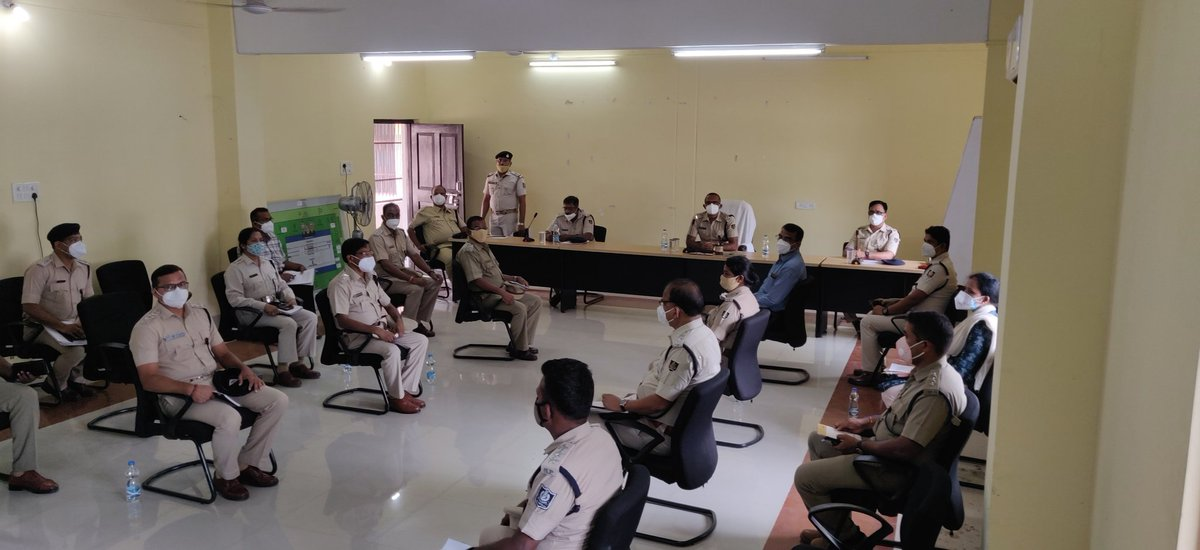 2nd Review Meeting for auspicious 𝑫𝒆𝒗𝒂𝒔𝒏𝒂𝒏𝒂 𝑷𝒖𝒓𝒏𝒊𝒎𝒂 including spot visits, discussion on deployment of force and officers was conducted today.  Detailed Police arrangement will be done with full support from all Sevayats, Puri Citizens and other stakeholders. https://t.co/vPyO1BuUCQ