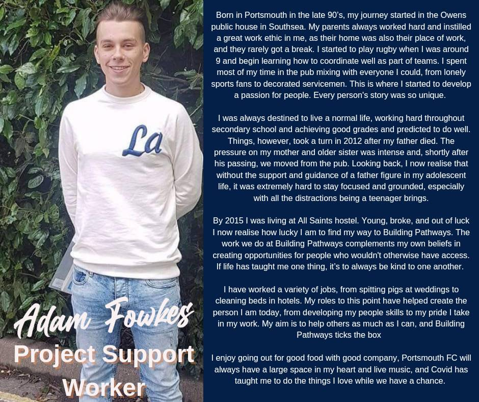 We are delighted to welcome the newest member of the Building Pathways family, our new Project Support Worker, Adam Fowkes! Find out more about his journey below!  #LoveConstruction #Careers #Training #Online #ConstructionUK #Support #BuildingPathways #CV  #CSCS #Mentoring