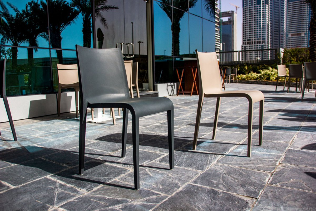 In the crowded field of chairs, Nassau stands out with its elegant silhouette. This is a one-piece family of seats in polypropylene reinforced with glass fibre, made using  injected air-moulding technology that makes it sturdy and light at the same time.  https://t.co/9za8EEvAeh