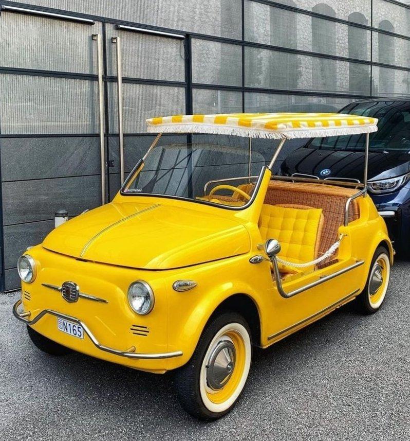 Fiat 500 Jolly #Fiat #yellow https://t.co/gbYqKdiCYq