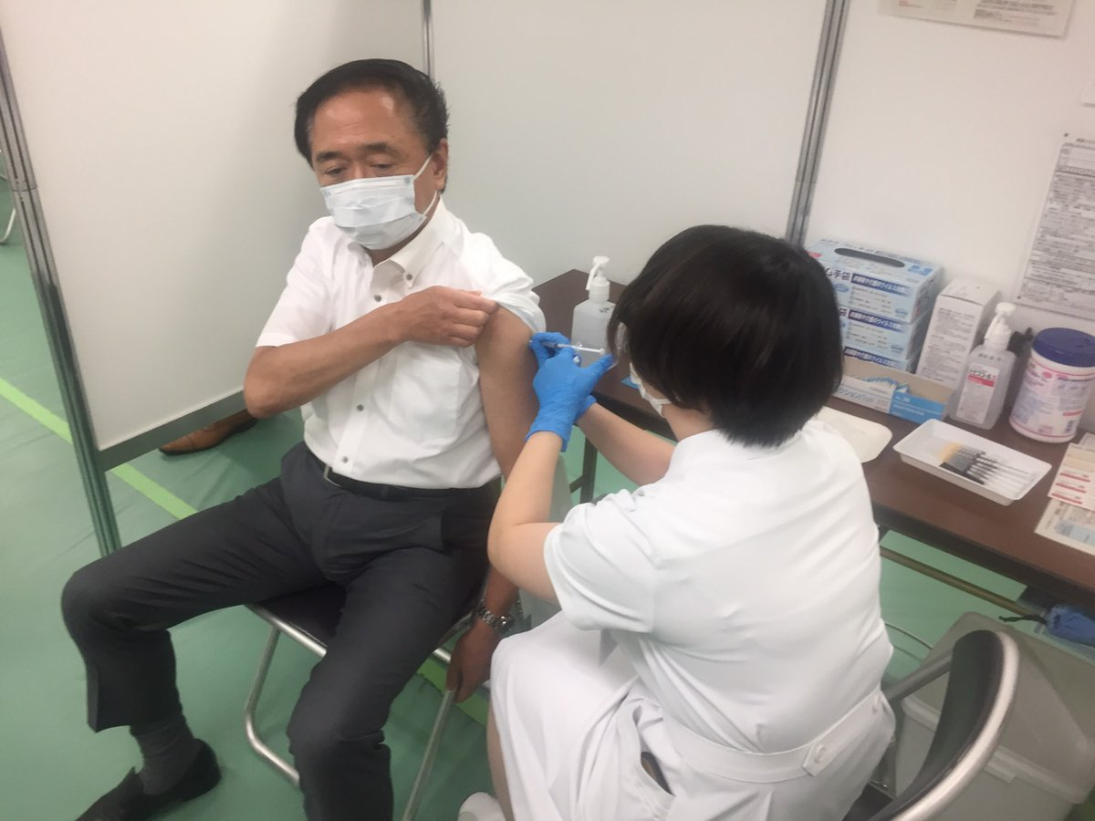 神奈川県の黒岩知事、大手町に行ったついでにワクチン接種を受けてしまう!