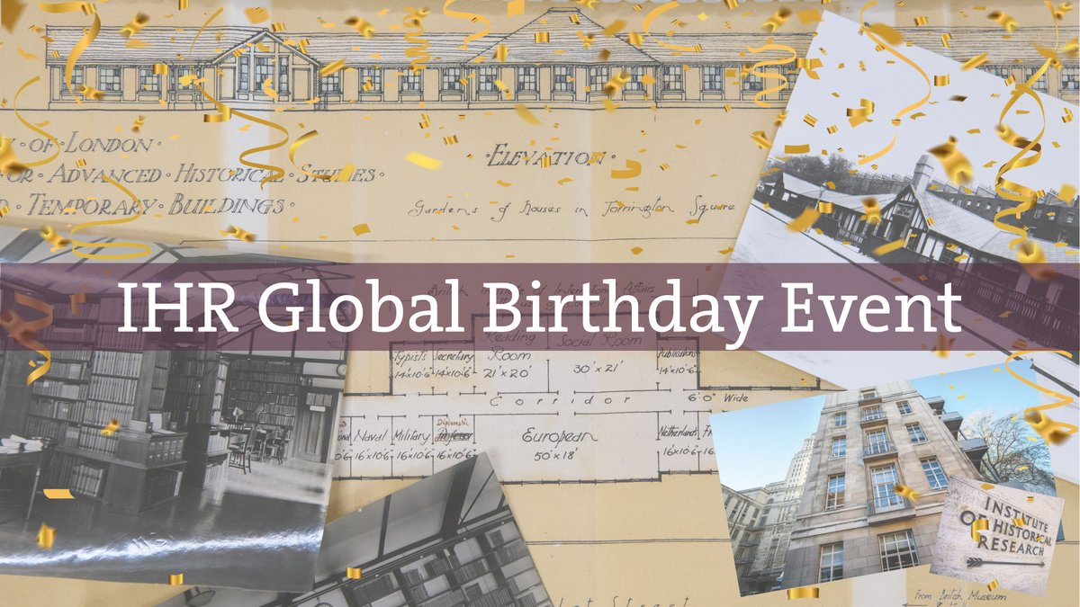 Join us for our 100th birthday on 8 July 2021. The IHR Global Birthday Event is bringing together leading historians from around the globe in celebration of the discipline of history as we think back and look forward. Full details coming soon! #OurCentury https://t.co/5HCLOrs4zG https://t.co/xzskLI5wpN