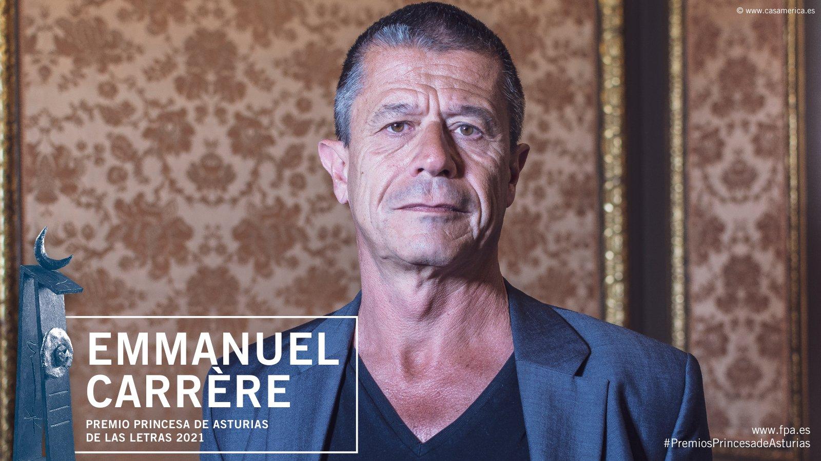 Emmanuel Carrère, Premio Princesa de Asturias de las Letras 2021