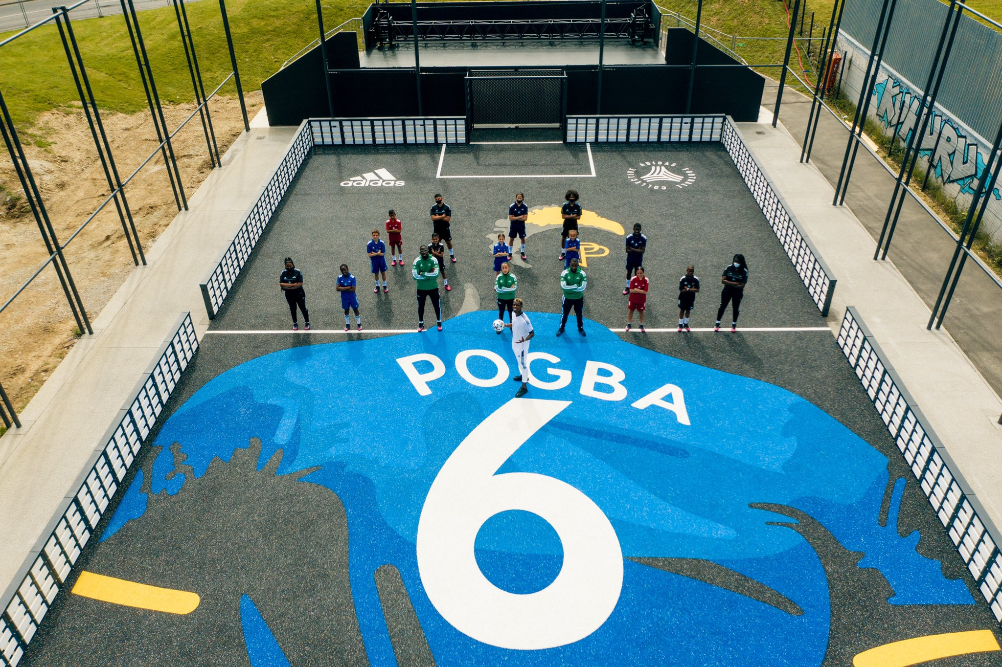 """Paul Pogba on Twitter: """"My adidas Pog'Pitch at 🏠 for the next generation.  🎁 Roissy la source, Yessirskiiii ! #adidasFootballCollective 🤜🏾🤛🏾  @adidasFootball… https://t.co/6c10ivWd00"""""""