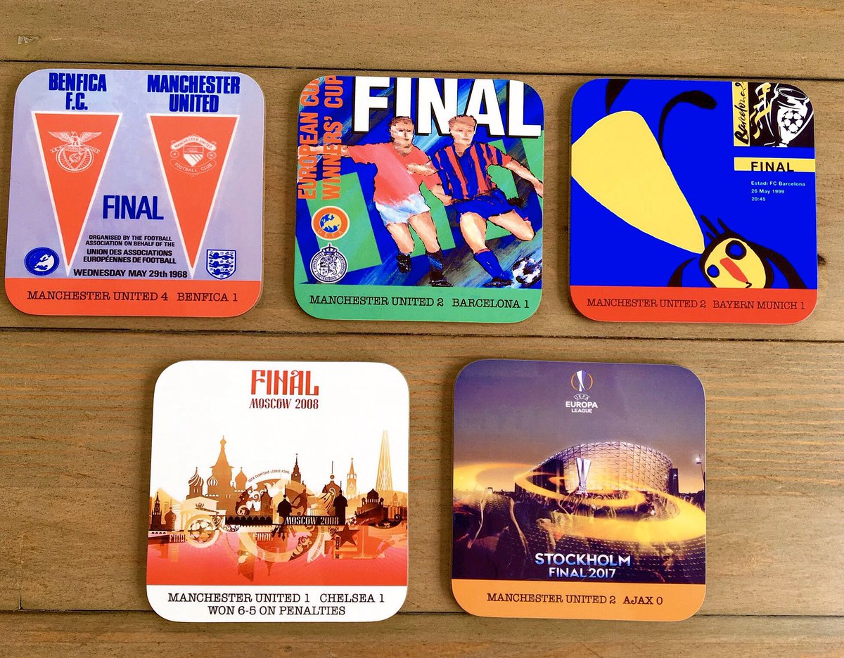 European or FA Cup coasters ? Treat your Dad to some great memories this #FathersDay  https://t.co/3i696R8KNF https://t.co/Xo60AABNIy