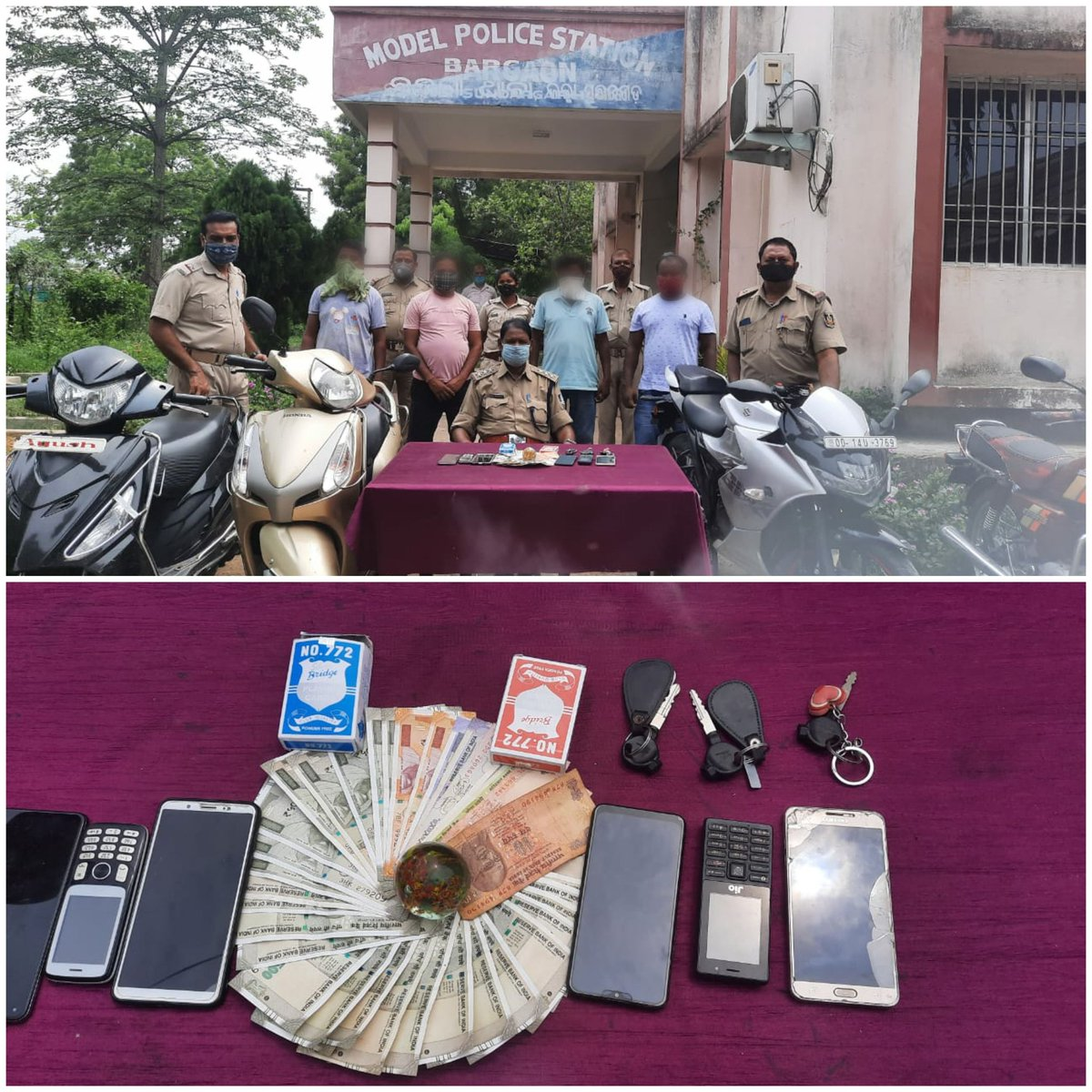 Bargaon Police detected a gambling case and seized cash of Rs 15,240, two sets of playing cards, One plastic mate, Six nos of mobile phone, One car, two M/C and four scooty. 4 persons have been apprehended from the spot. PS Case no.92/21, U/S-3 OPG Act have been registered. https://t.co/HmBe7VOszT