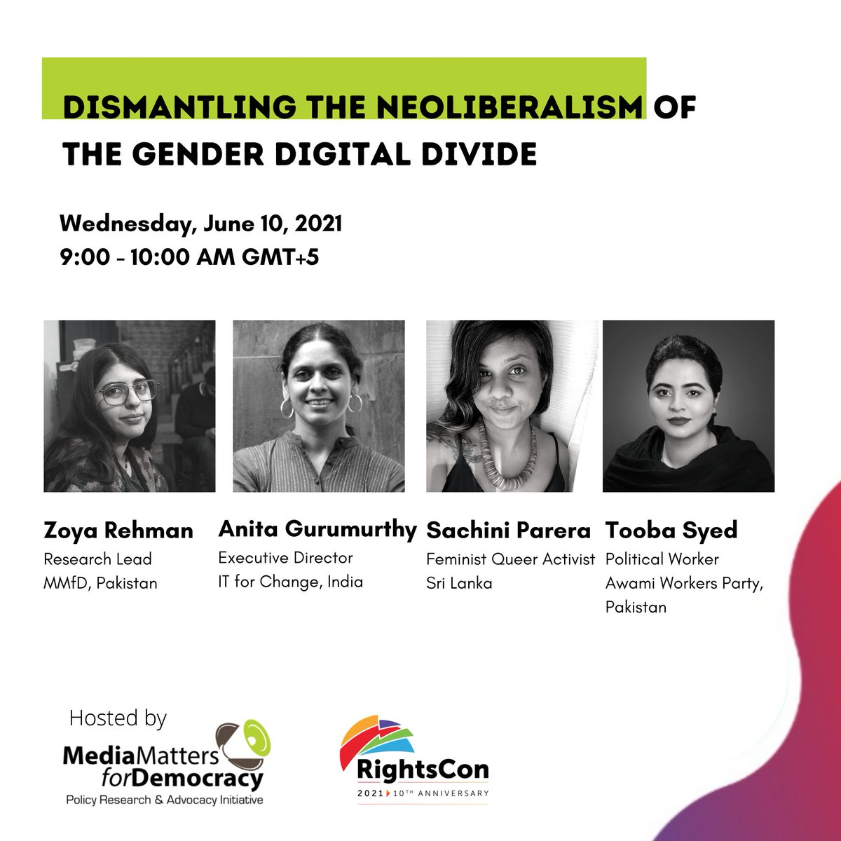 happy to have organized this discussion that includes some incredible speakers: my comrade, dost + sis @Tooba_Sd, & also the formidable @sachp & anita gurumurthy (of @ITforChange). join us tomorrow if you're free?  📅thursday, june 10th ⏲️9 AM (GMT+5)    https://t.co/SPdL6ii79N