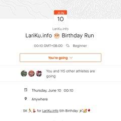 5th LariKu.info 🎂 Birthday Run • 2021