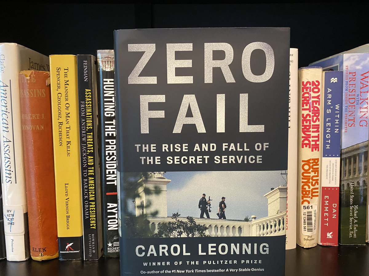Yes, it's ZERO FAIL by @CarolLeonnig!  I'm looking forward to a rich, detailed conversation with her in a few weeks, for the Lawfare Podcast, about the Secret Service and prospects for its reform. https://t.co/qnsKToUO4M https://t.co/HrusQgEx0O