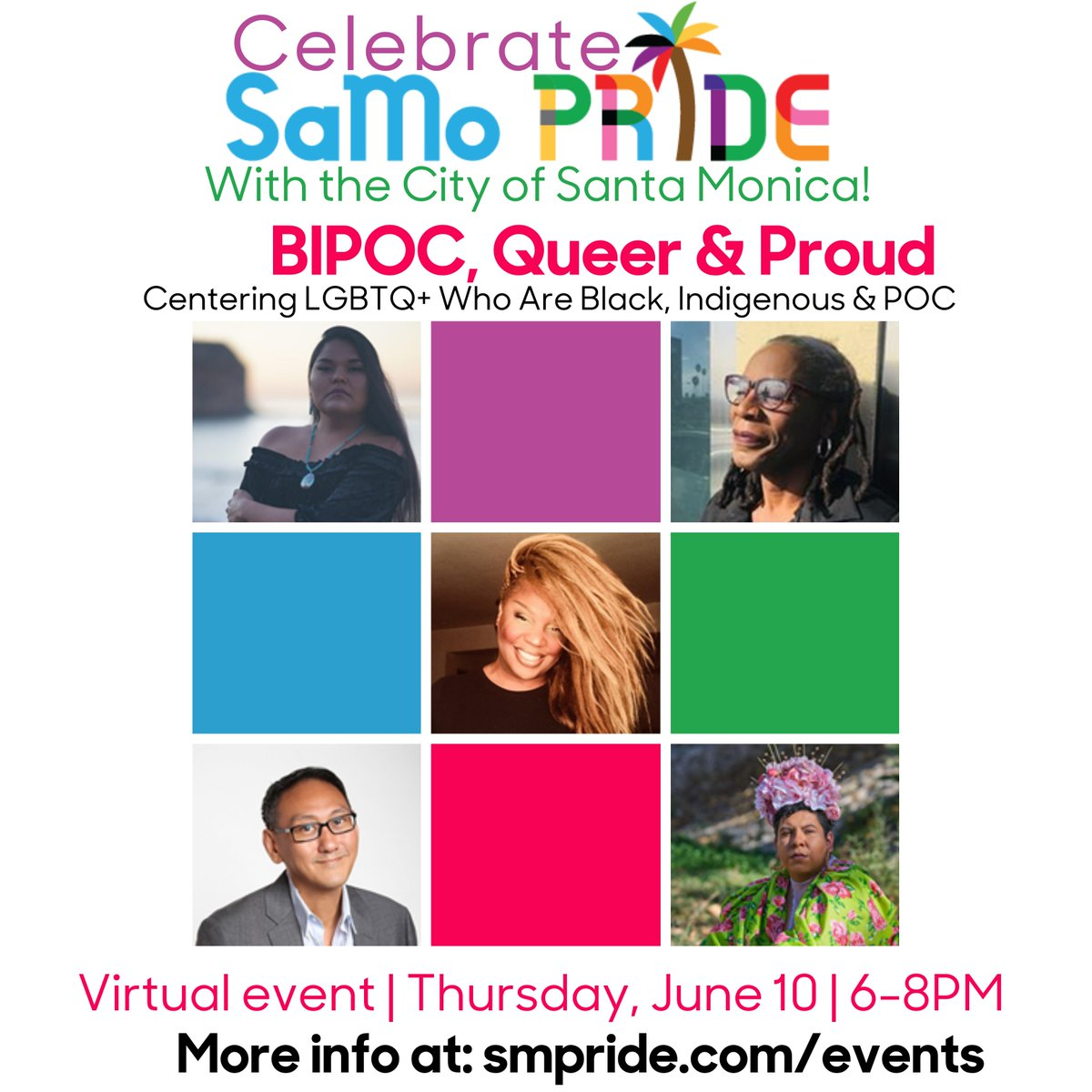 """Happening TOMORROW: """"BIPOC, Queer & Proud!"""" In this exciting panel, members of the LGBTQ+  community who Are Black, Indigenous & People of Color (BIPOC) will discuss both the challenges and joys of their intersecting identities.   Register & Learn: https://t.co/CRLUyXncUY https://t.co/wFsqmRoWu1"""