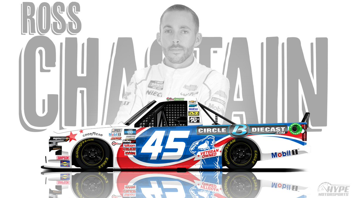 .@RossChastain will return to the @NASCAR_Trucks with @NieceMotorsport this weekend with support from our friends at @PlanBSales!