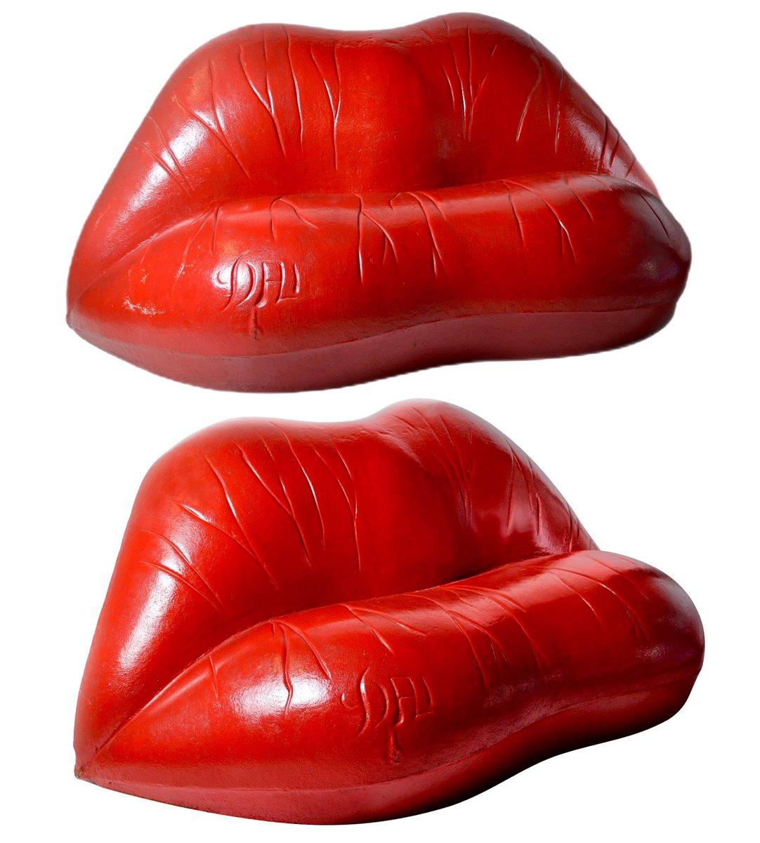 Salvador Dali x Oscar Tusquets Red Lips 'Salivasofa' Sofa Prototype (1972). https://t.co/LA3n4YcP3D