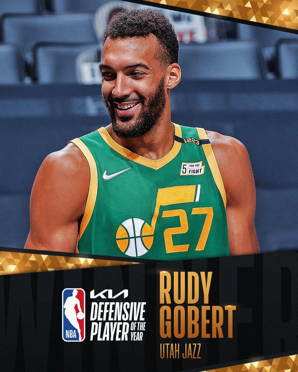 The 2020-21 #KiaDPOY is… @rudygobert27! #NBAAwards #ThatsGame https://t.co/wkhO2JJELY