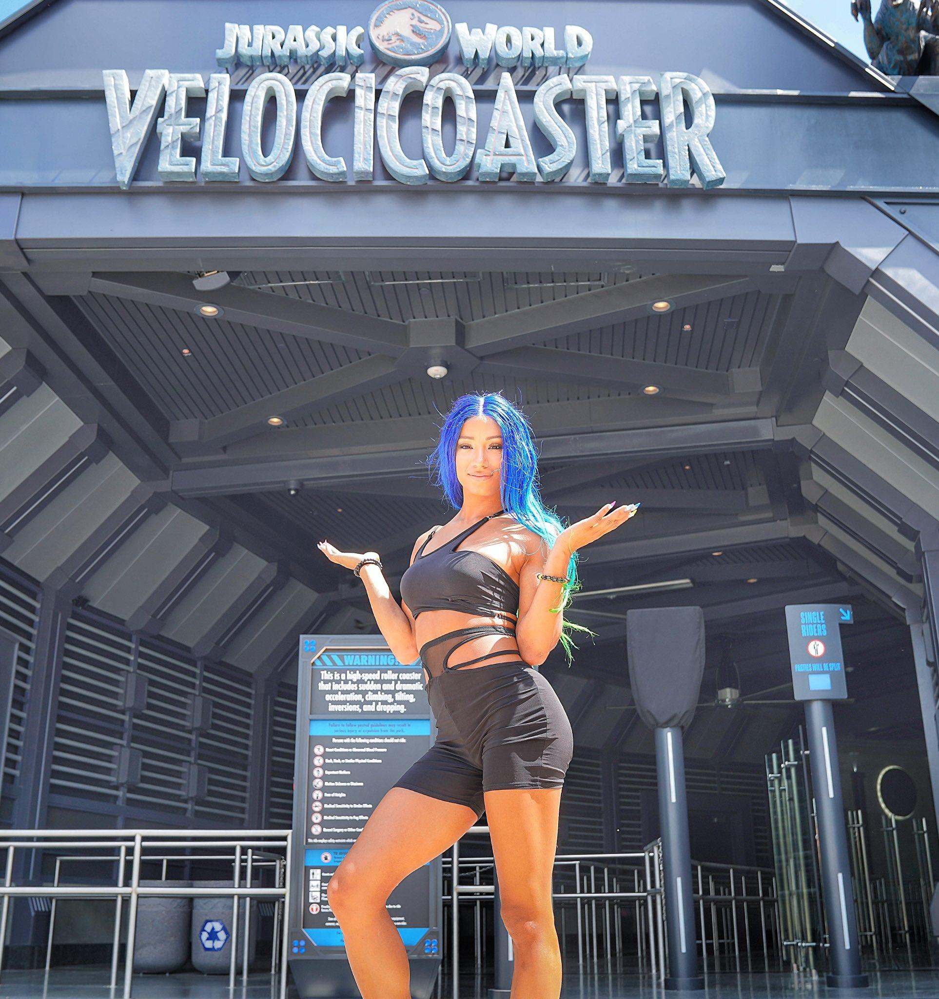 Sasha Banks Visits Jurassic World In Florida; See Photos By WWE 1