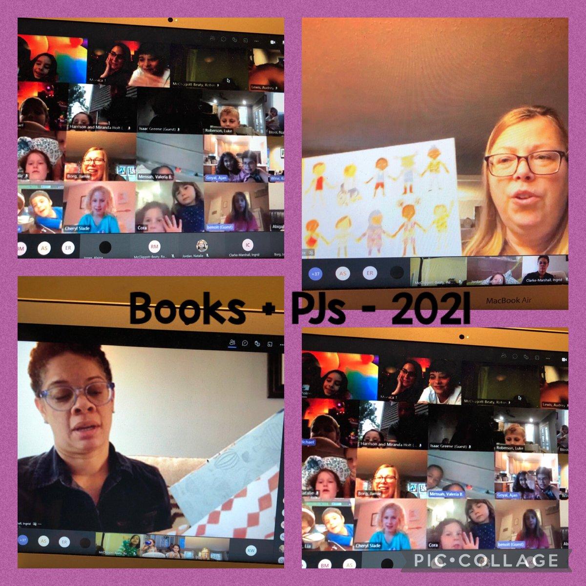 感謝 Borg 女士和 Clarke-Marshall 女士閱讀我們 20-21 學年的最後一本書 + PJ! 感謝您的家人加入 - 多麼美好的夜晚! @GlebeAPS @APSLibrarians https://t.co/4DrhaYD2g0