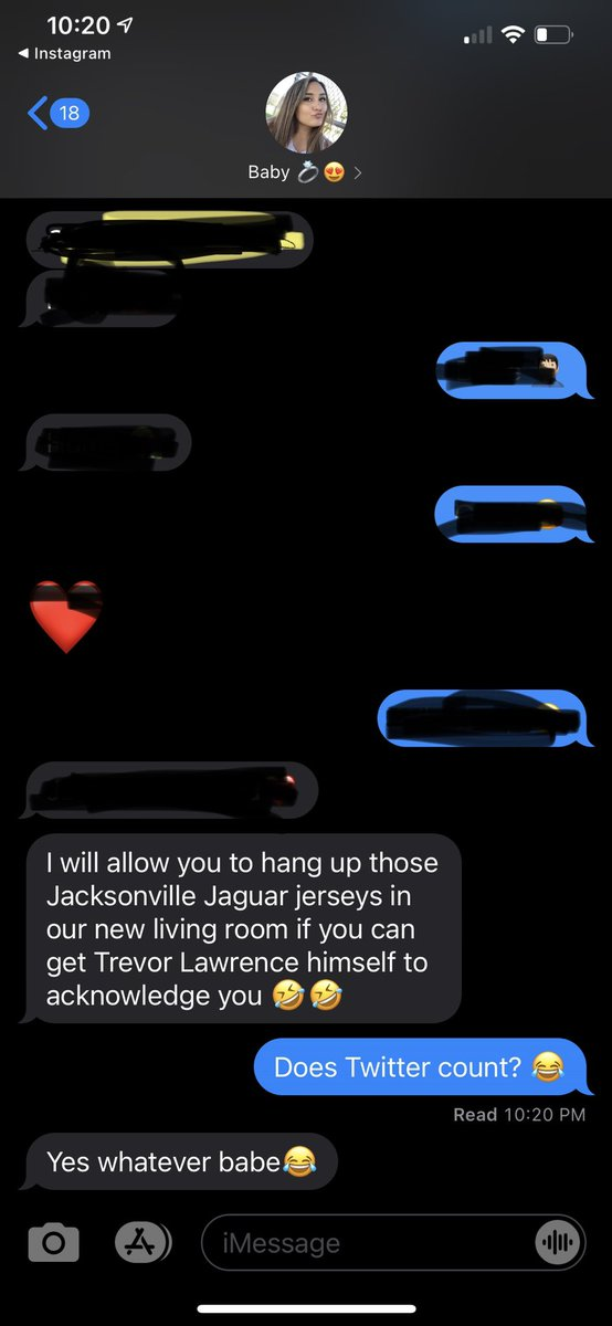 Buying our first home and the fiancé has agreed to let me hang up my @JoshAllen41_ @MylesJack and Tlaw jersey in the living room if I can get @Trevorlawrencee to acknowledge this tweet. Can a guy get some help??@Jaguars https://t.co/xuEYgdNUtu