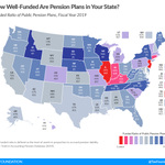 Image for the Tweet beginning: How well-funded are pension plans