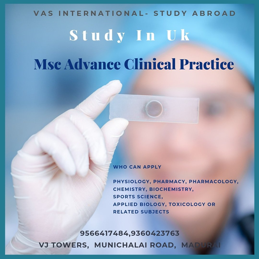 The MSc Advanced Clinical Practice (ACP) supports registered healthcare practitioners in their continued professional development toMastersLevel.  What's app https://t.co/1s8MMWxIEK #UK #ukeducation #educationinuk #studyinuk #medicine #studymedicine #settleinuk #settleinabroad https://t.co/ssXjV4TUsC