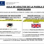 Image for the Tweet beginning: Mayte Galán, desde el #AulaDeAdultos,
